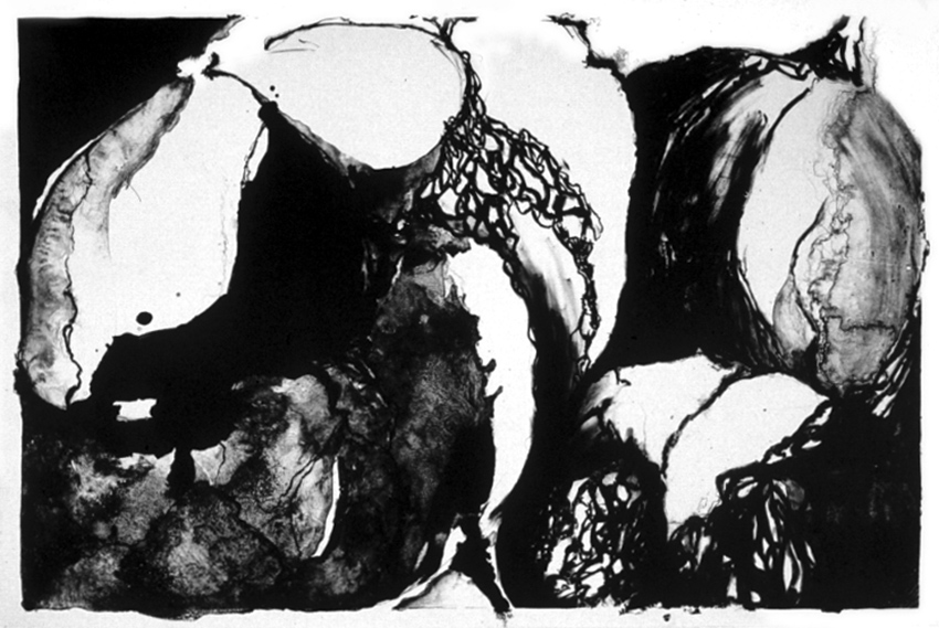 Sarah Dudley print lithography squash large